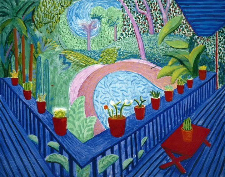 Red Pots in the Garden, 2000, 152,3 X 193. Collection de l'Artiste.