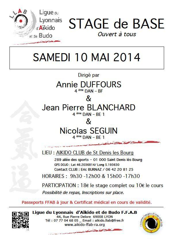 Stage de Base à Saint Denis les Bourg Samedi 10 Mai 2014