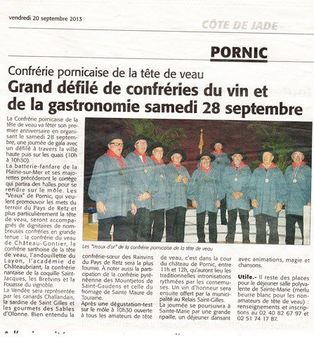 document du journal Ouest France