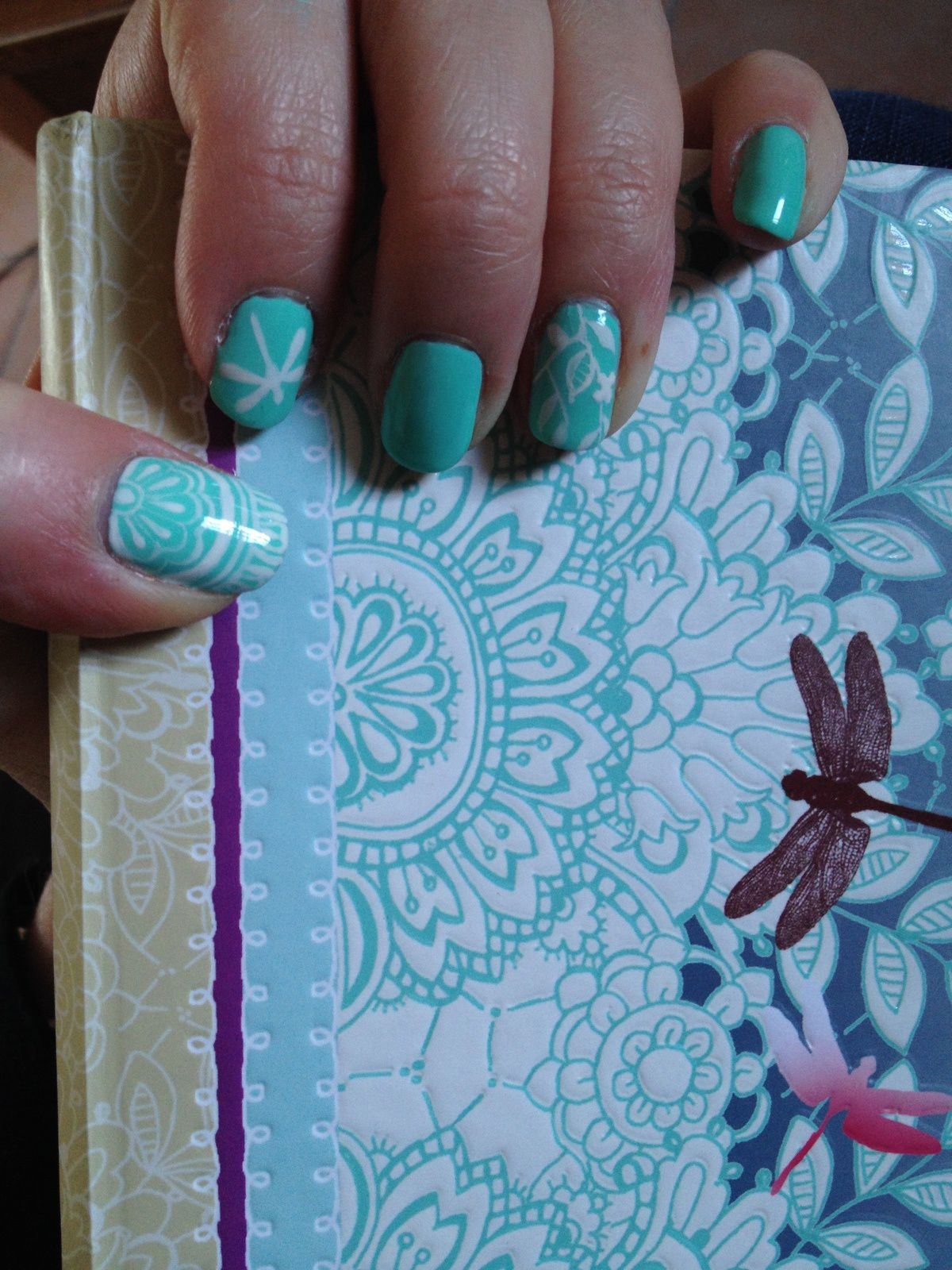 Nail Art - Livre (Pastel Bleu/Vert) ♥