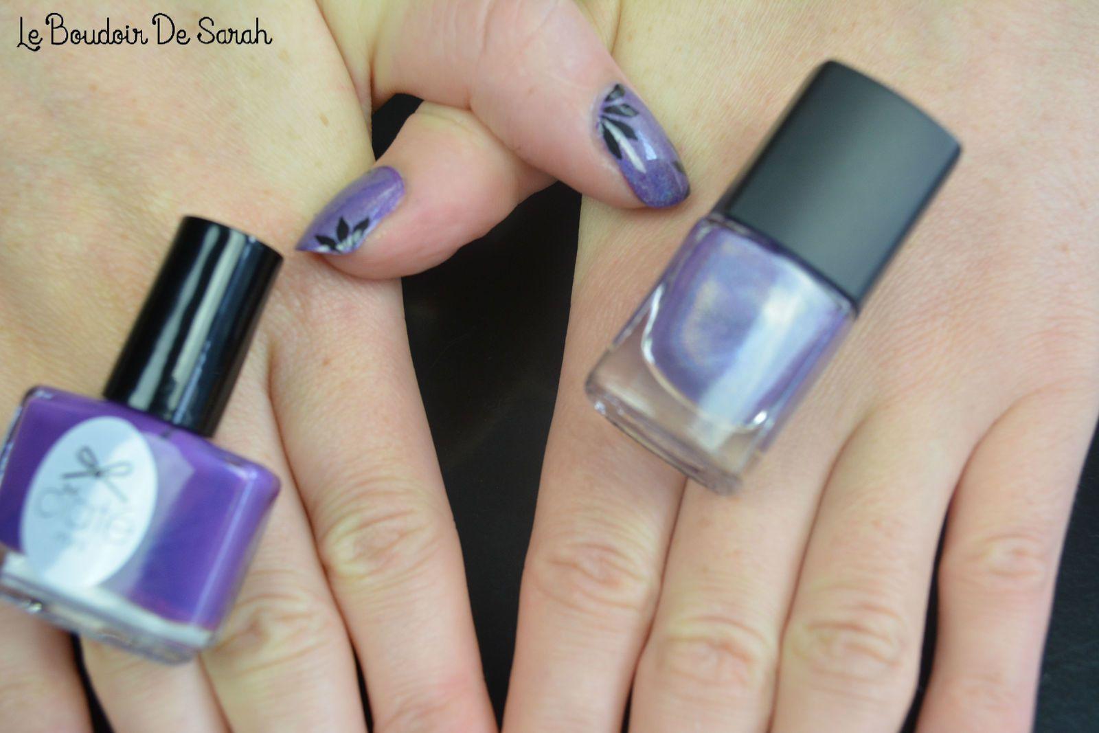 Nail Art - Purple Holographique