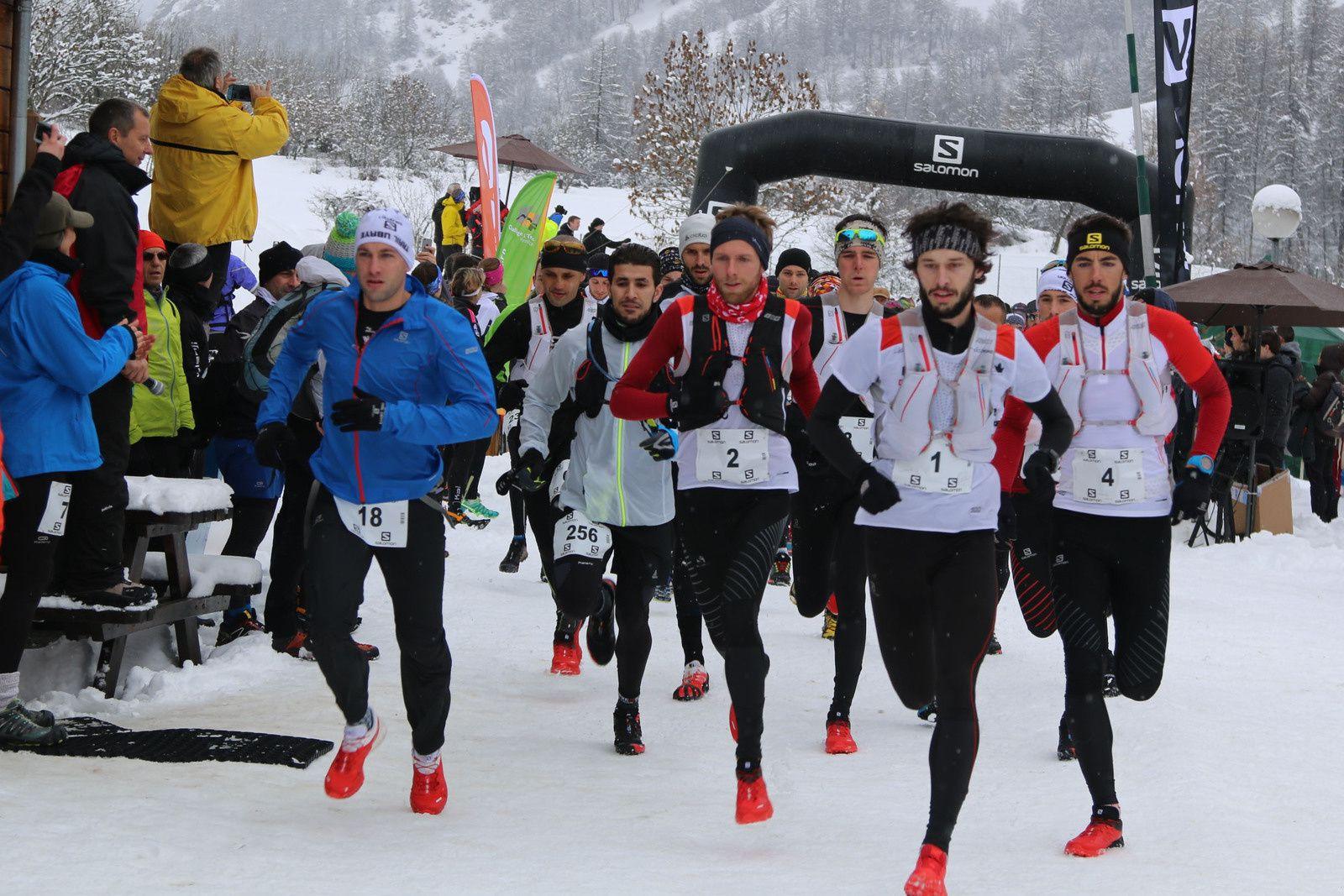 Céline Dodin et Thibaut Baronian vainqueurs du 20 km de l'Ubaye snow trail Salomon
