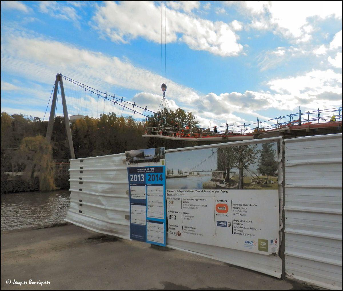 Des vues sur palissades du projet futur une fois réalisé...