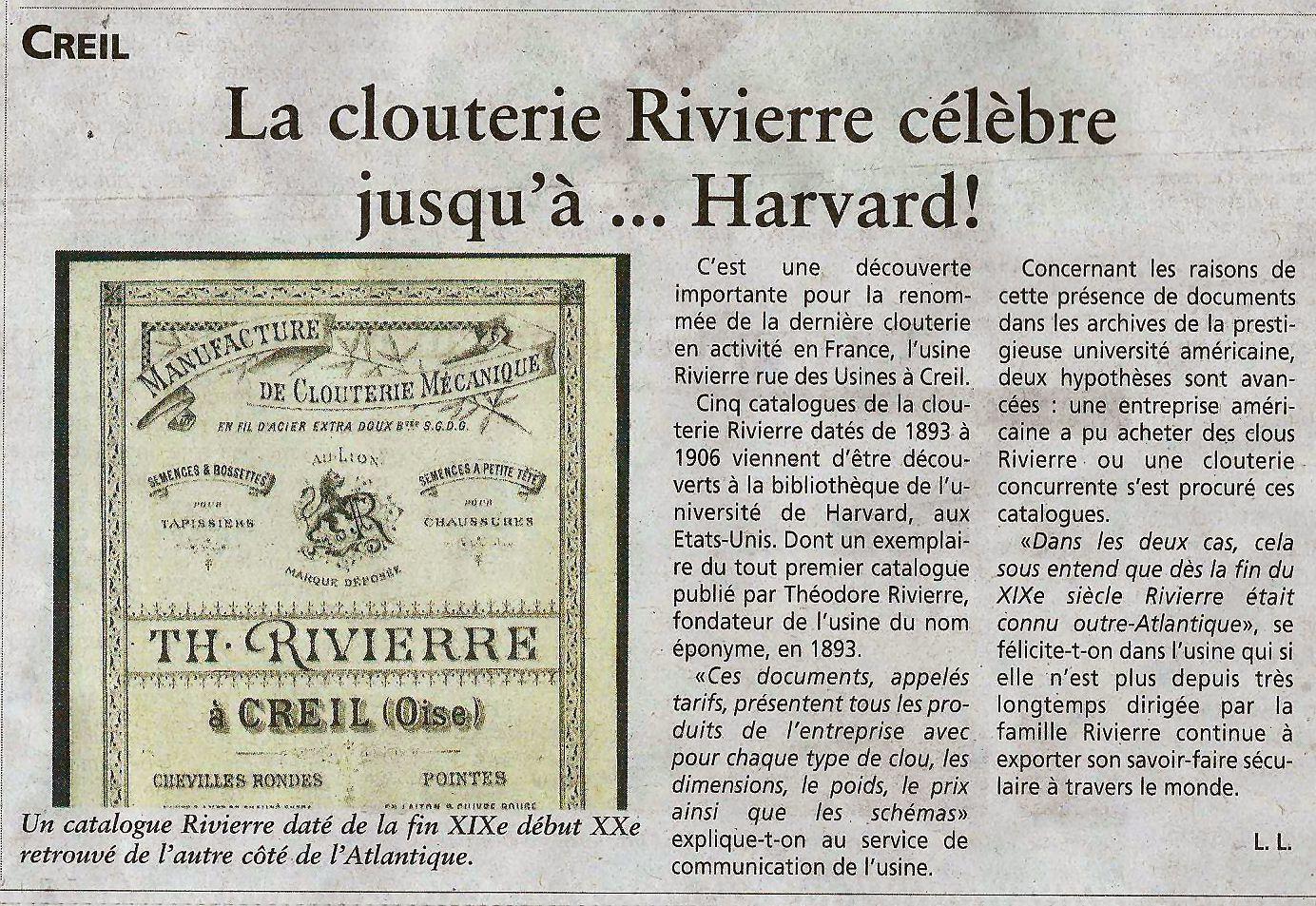 Article avec photo extrait du journal Oise Hebdo du 5 Novembre 2014
