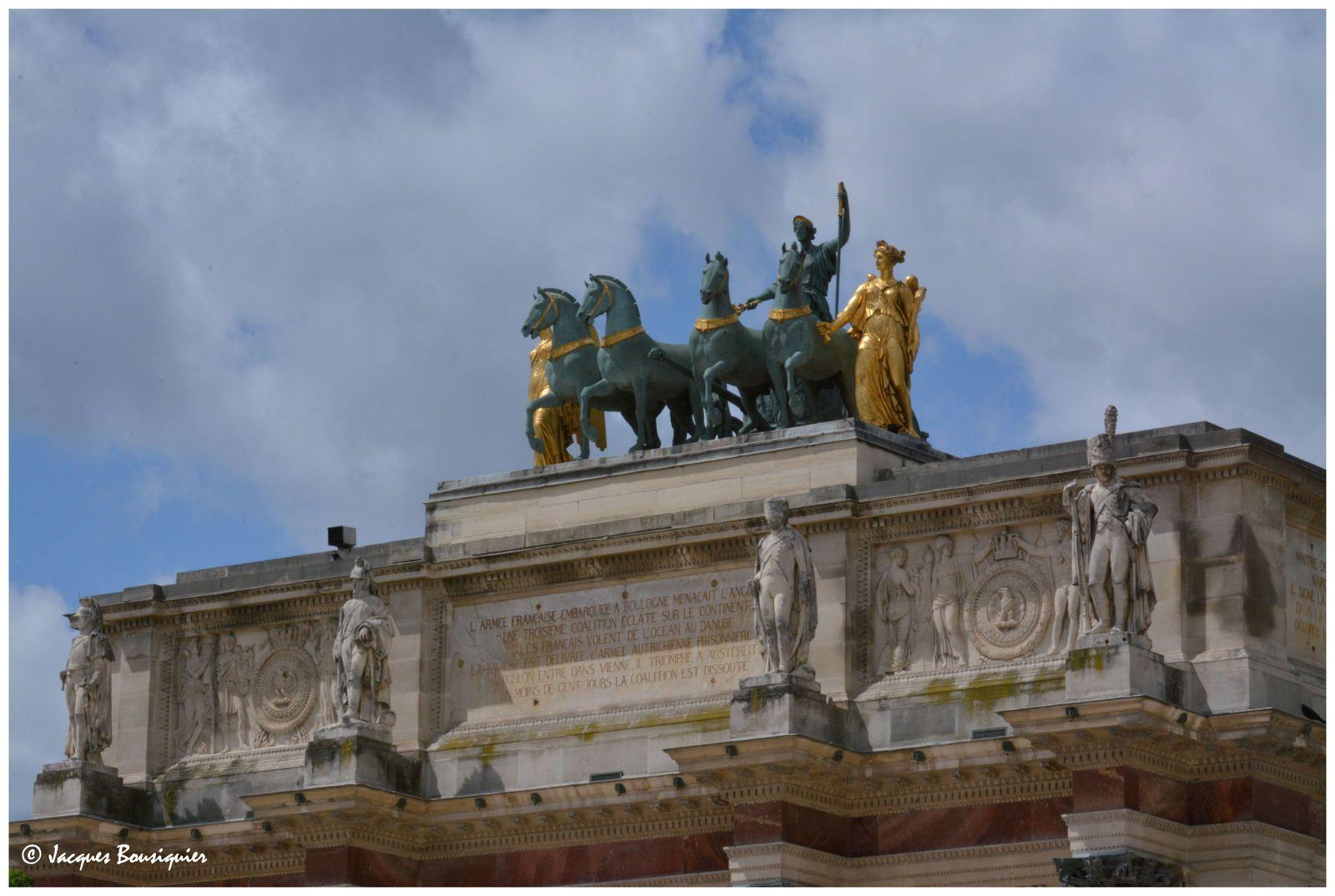 L'Arc de triomphe du Carroussel... un détail de l'histoire