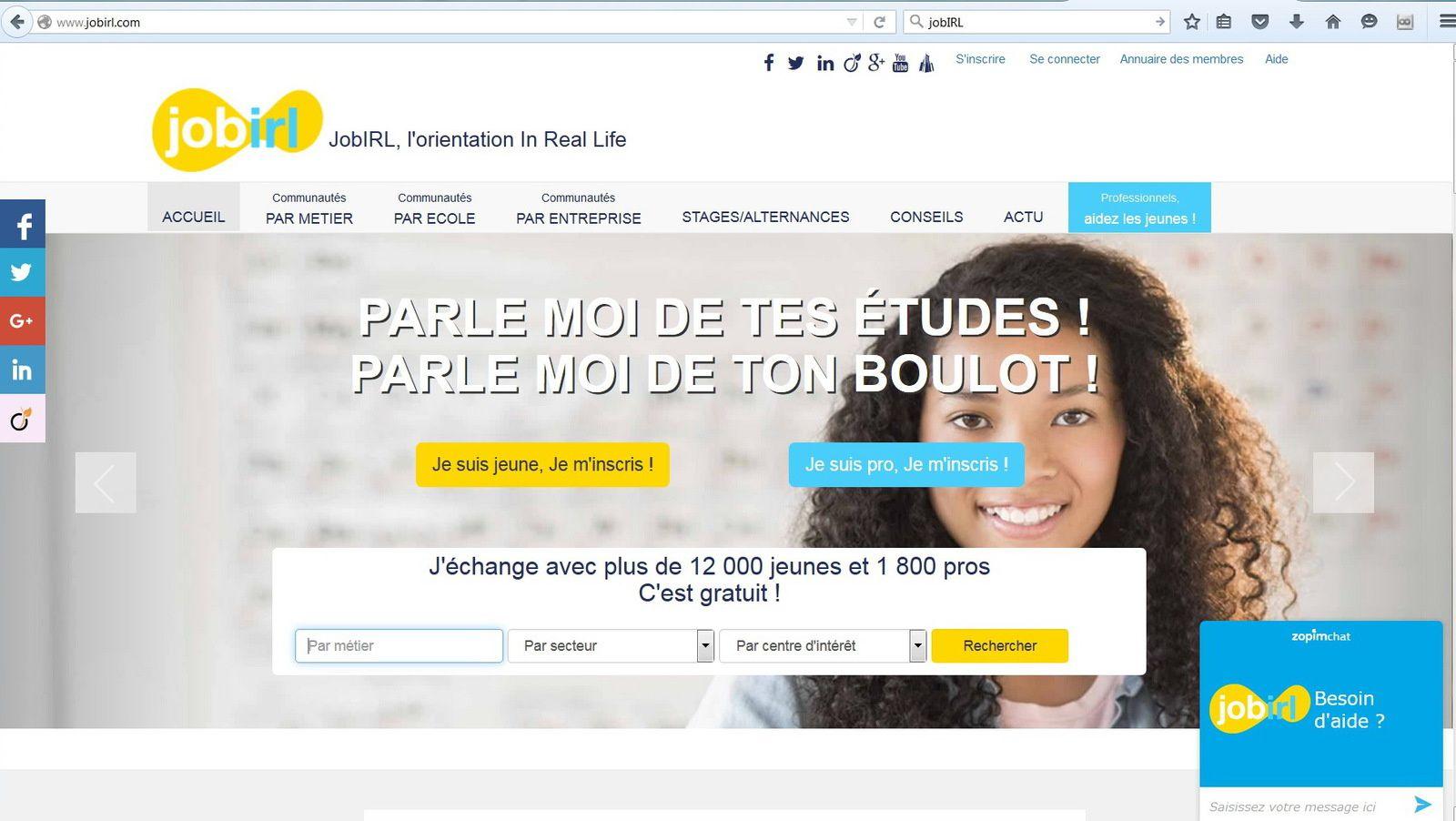 jobIRL.com un réseau social à connaître