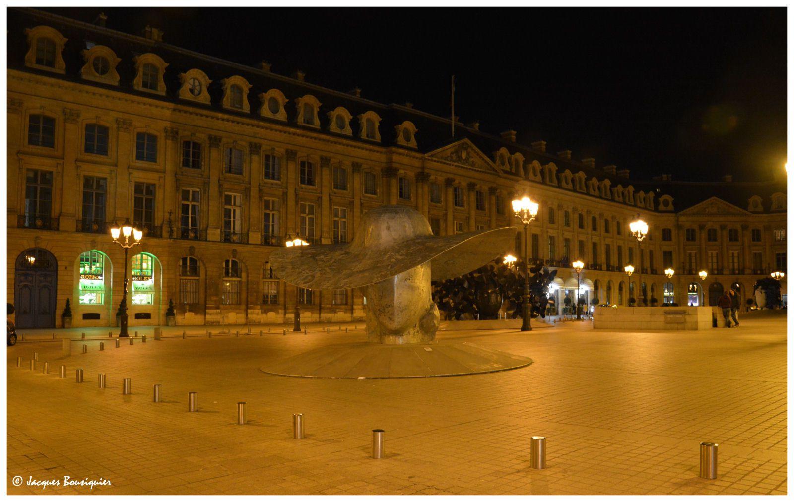 Place Vendôme, Opéra, nuit blanche Paris 2016