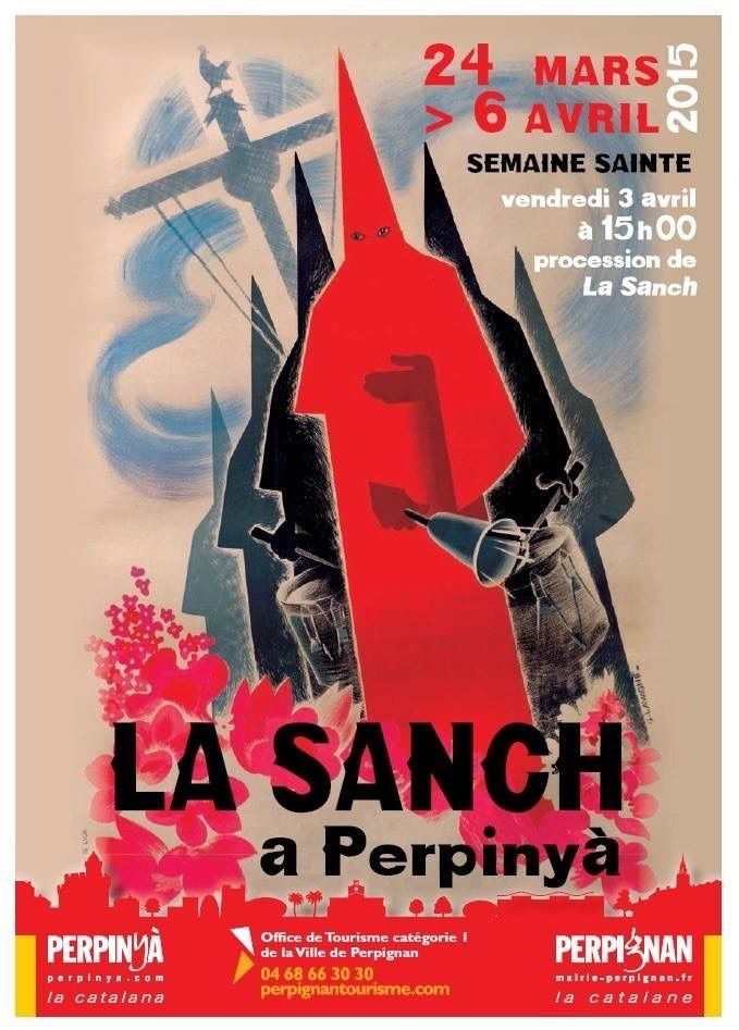 Procession de la Sanch 2015, perpignan