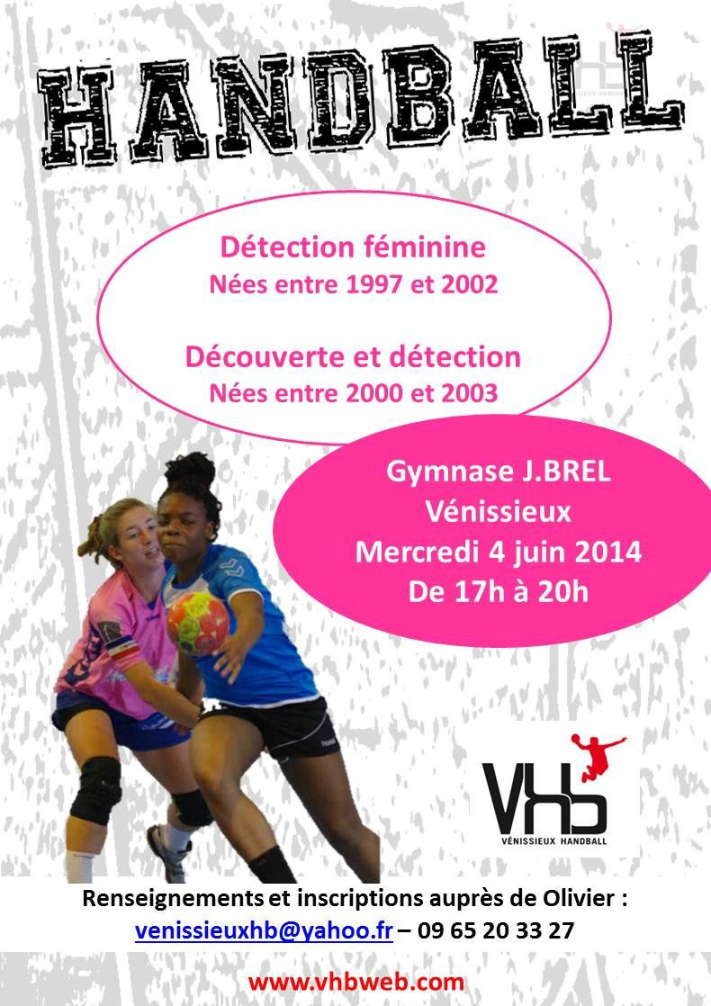 "Vénissieux Handball organise une session hand ""speciale filles"""