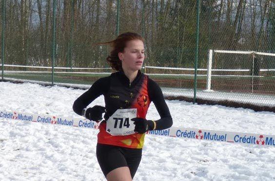 La cadette Emma Vella qualifiée pour les Championnats de France de cross - Photo: AFA