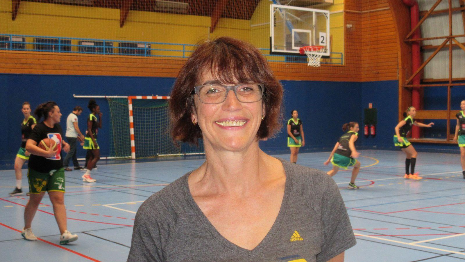 Christine Thiebault la présidente de l'Amicale Laïque de Vénissieux-Parilly Basket