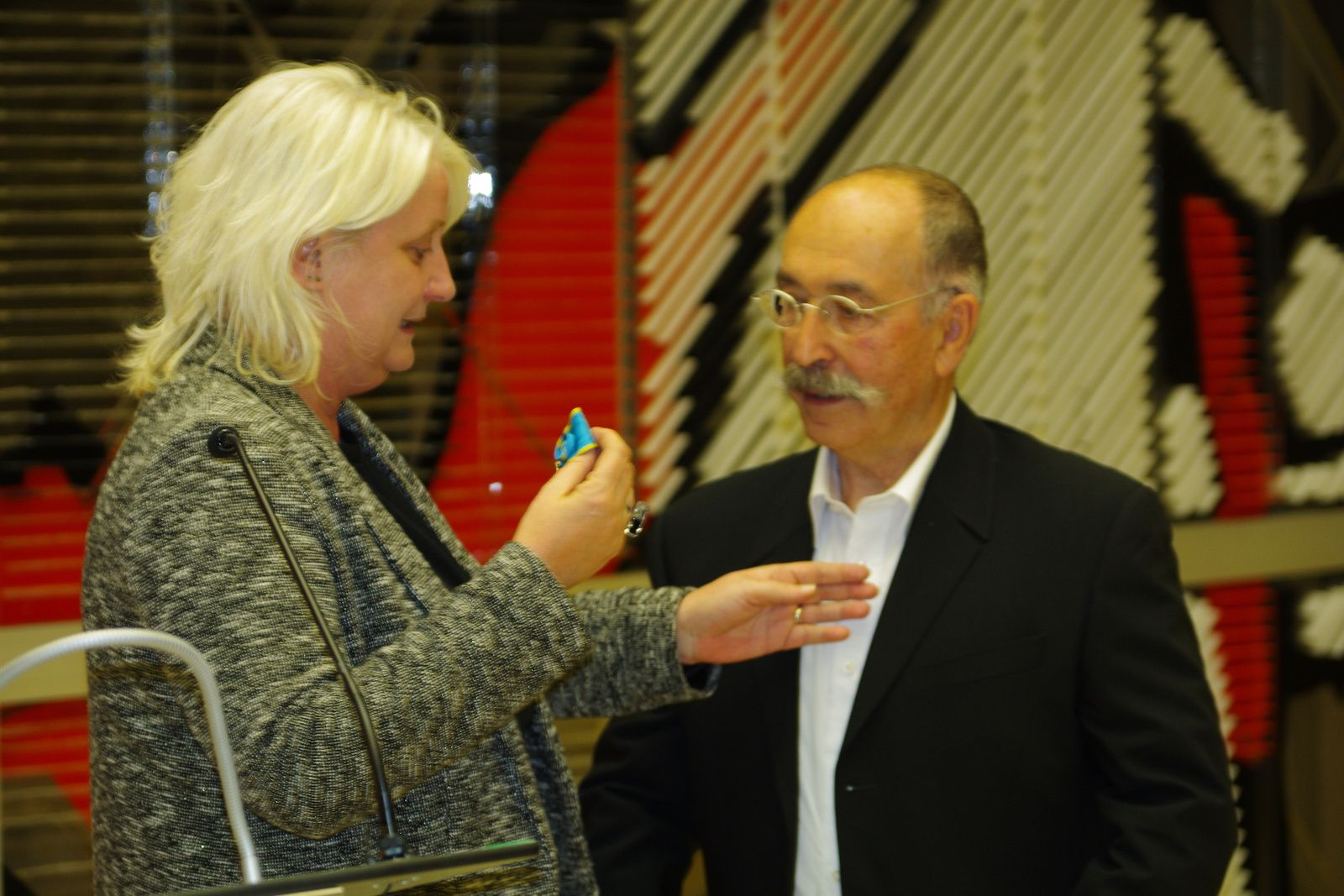 Danel Camilli a été honoré ce mardi soir dans la salle du conseil municipal