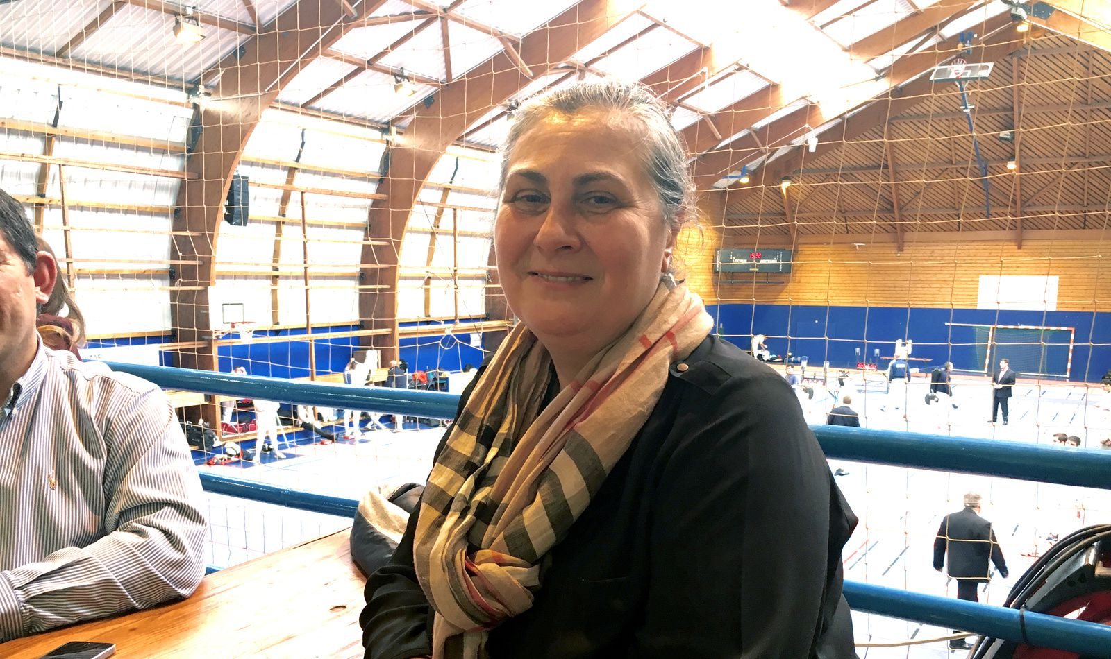 Isabelle Lamour présidente de la Fédération Française d'Escrime en visite ce samedi après-midi à la 16e édition du Circuit national épée de Vénissieux