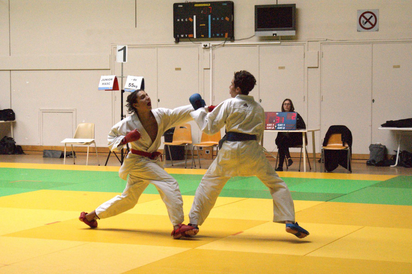 Kamil Merah obtient la médaille de bronze aux championnats de France de karate catégorie cadets moins de 52kg - Photo : © Sen No Sen