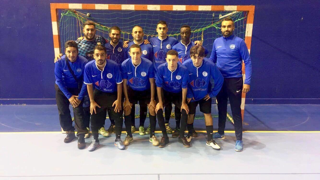 L'équipe de Futsal de l'AS Minguettes Vénissieux a bien commencé son championnat honneur - Photo : AS Minguettes-Vénissieux