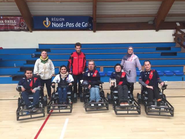 Le foot-fauteuil  d'Handisport Lyonnais devrait retrouver la D1, 10 ans  après l'avoir quitté - Photo : © Handisport Lyonnais