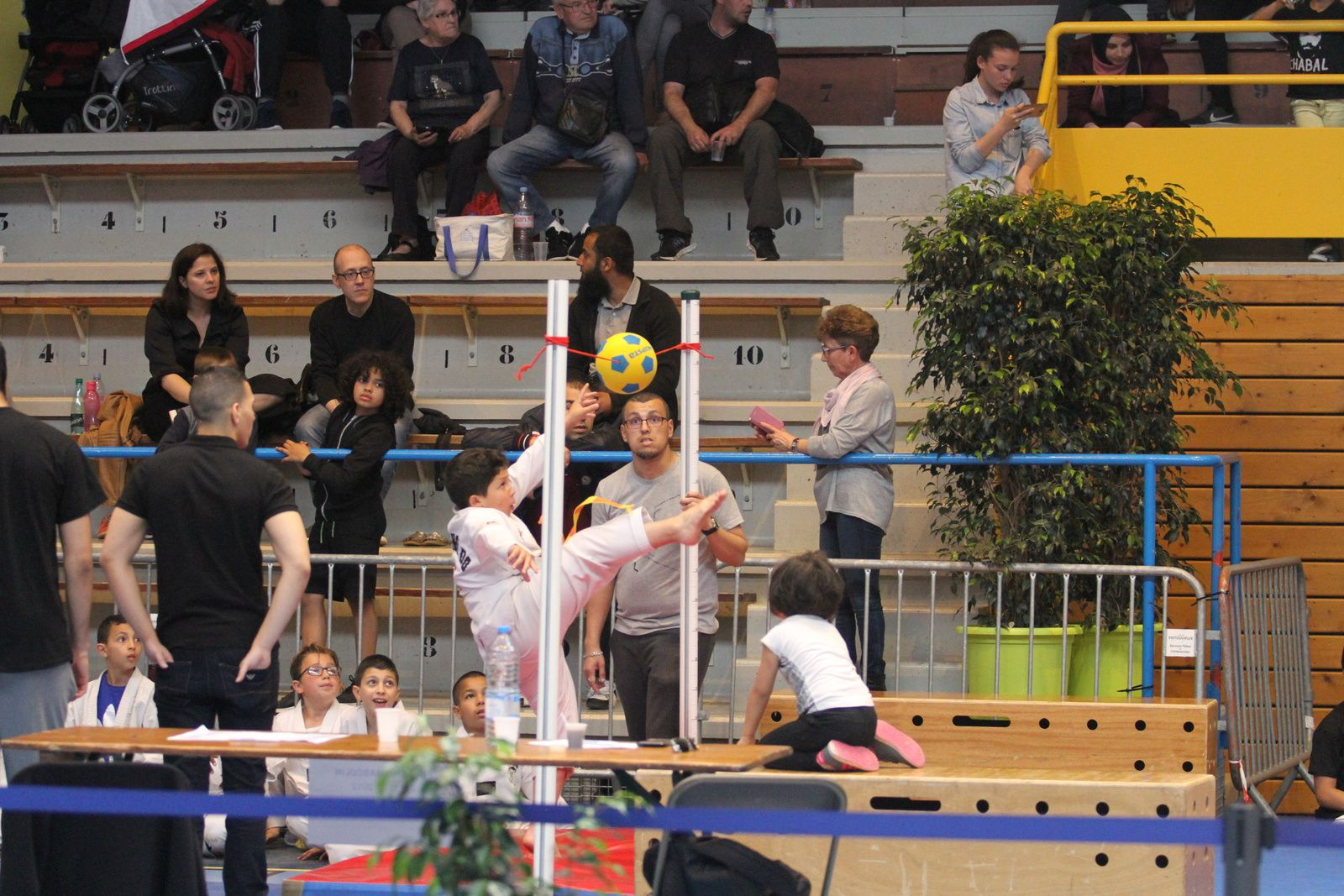 Trois quatre vingt sept jeunes taekwondistes ont participé au 4e interclubs de Taekwondo Vénissieux
