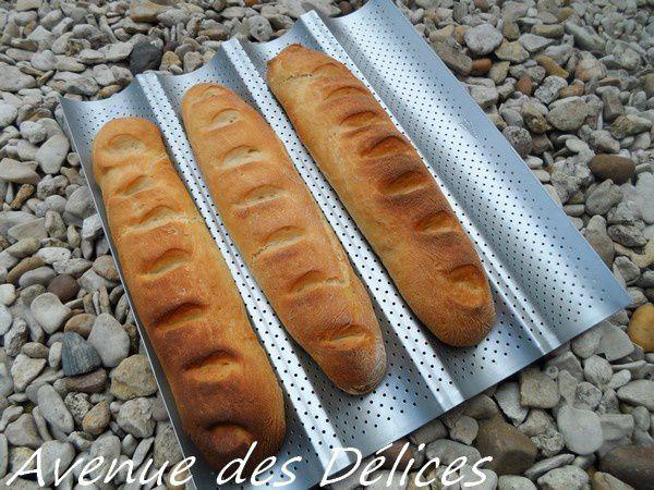 Baguettes de pain blanc, thermomix.