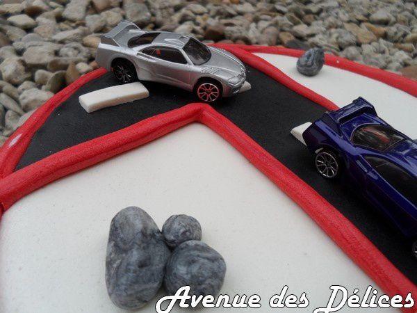 Gâteau &quot&#x3B;course automobile&quot&#x3B;