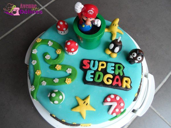 Gâteau Super Mario (version 2)