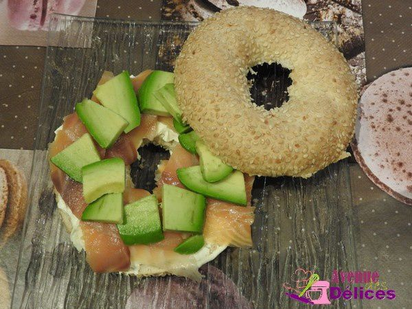 Bagels saumon-avocat