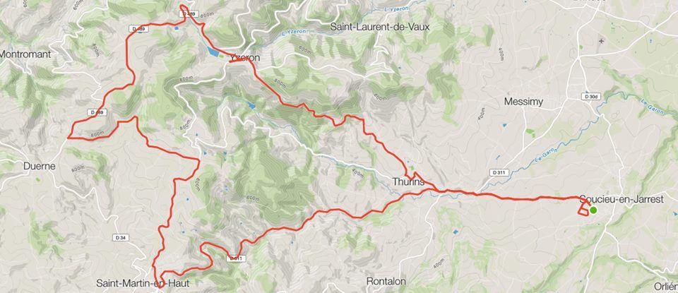 VELO : Monts du Lyonnais, col des Brosses