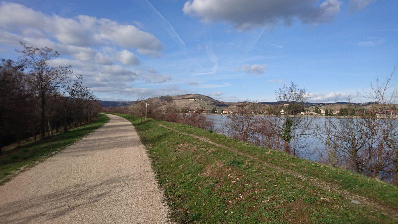 Viarhôna entre Tournon et Glun