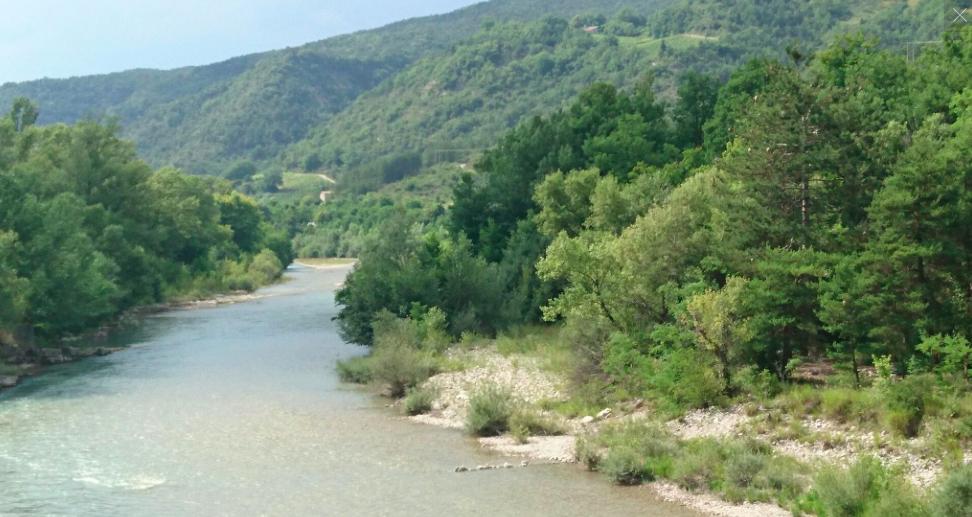 La Drôme, en aval de Saillans