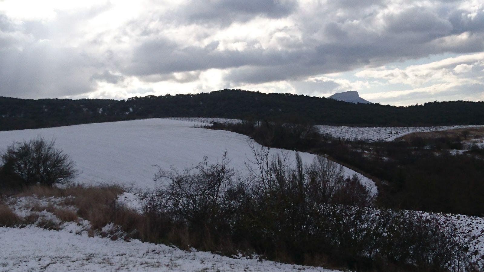 Montclar sur Gervanne, dans la neige