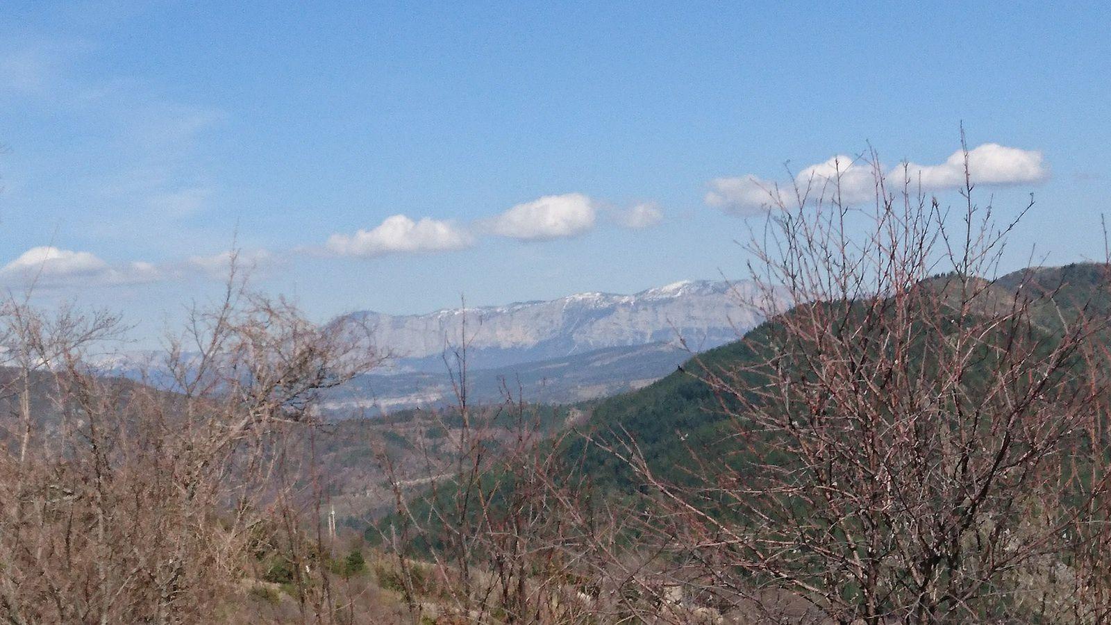 Vue depuis le col : le Glandasse