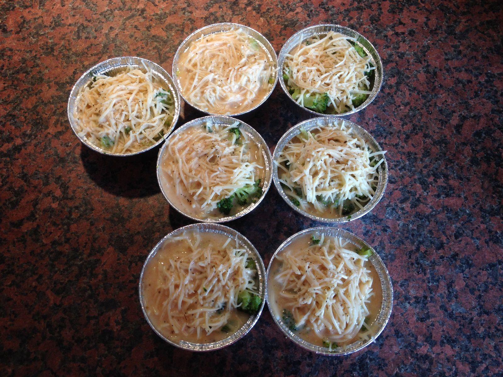 Petits flans de brocolis, au parika et origan