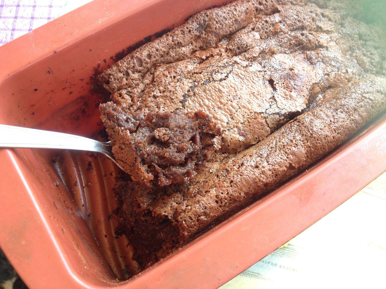 Moelleux coeur coulant chocolat- caramel au beurre salé