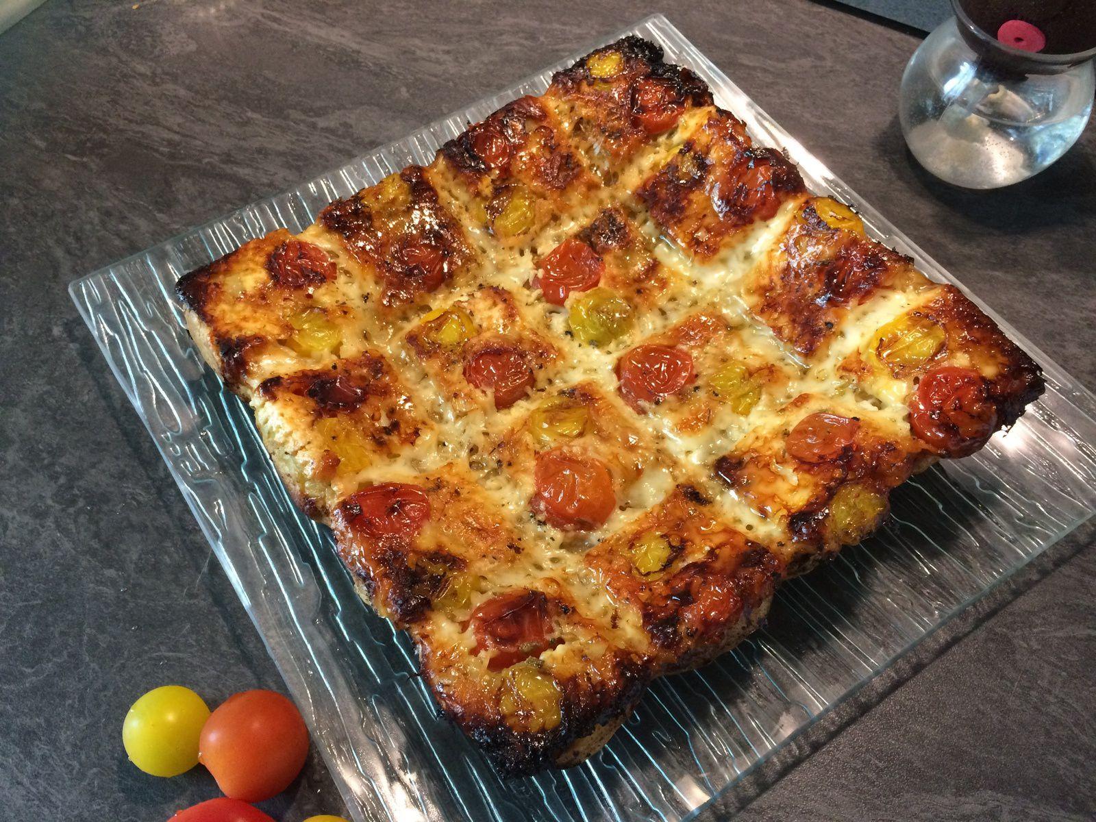 Tatin de tomates cerises aux trois fromages