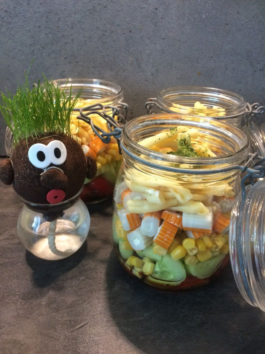 Salad in a Jar : version surimi!