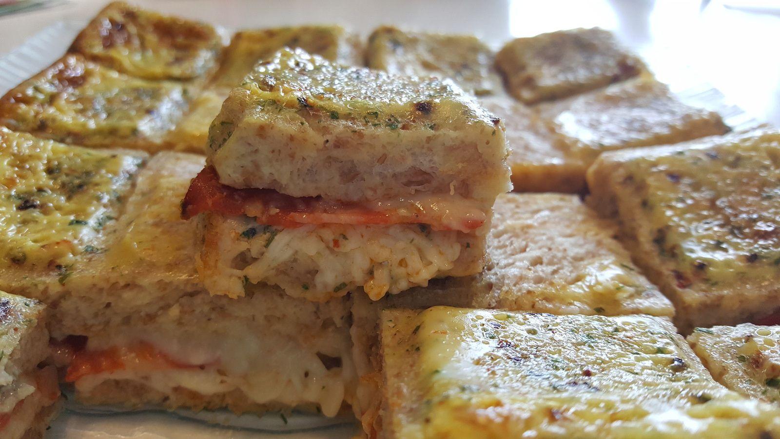 Cake croque au chorizo et Laguiole
