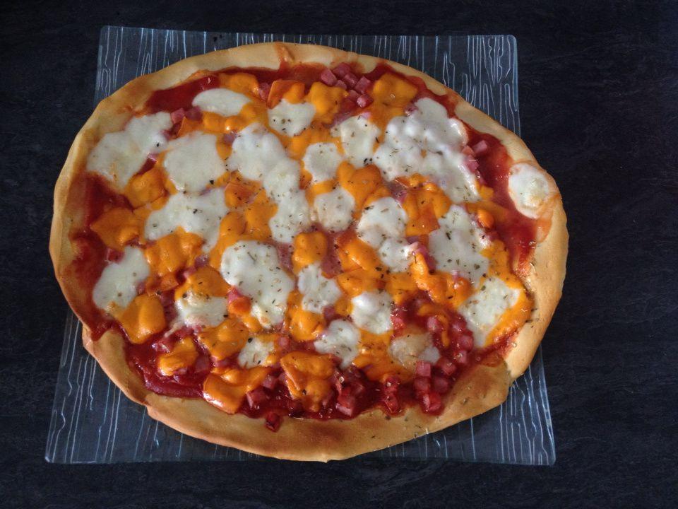 Pizza mimolette/jambon