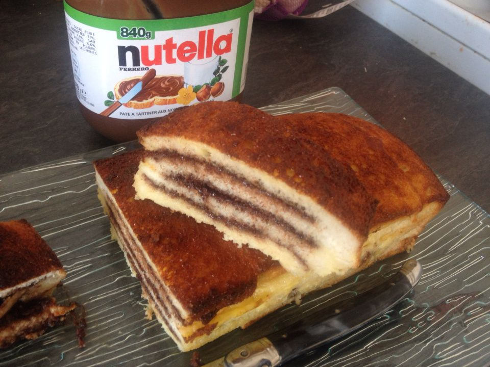 croque cake au nutella popote de petit bohnium. Black Bedroom Furniture Sets. Home Design Ideas