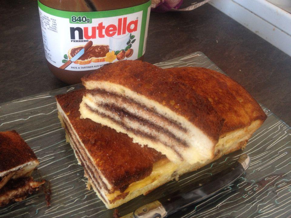 Croque cake  au nutella