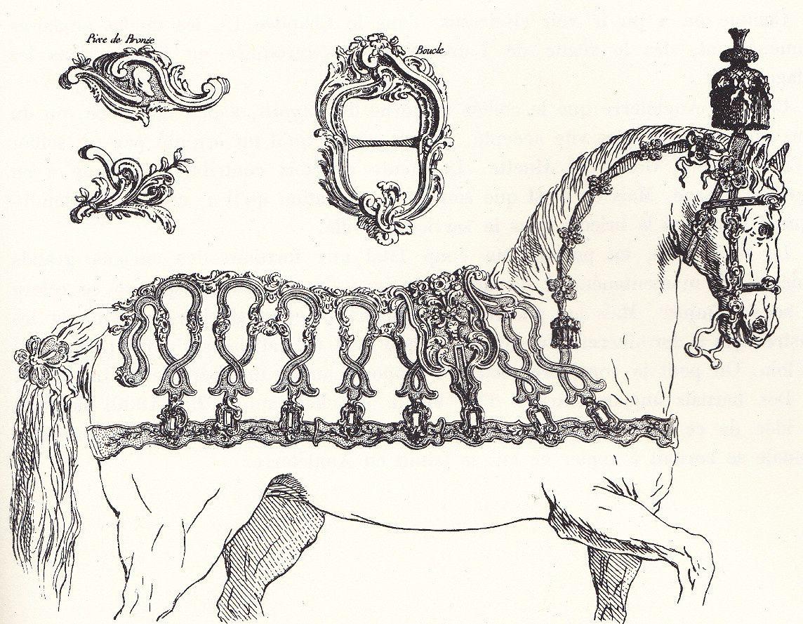 Harnais d'apparat sous Louis XV d'aprs les planches de J B de Poillyè