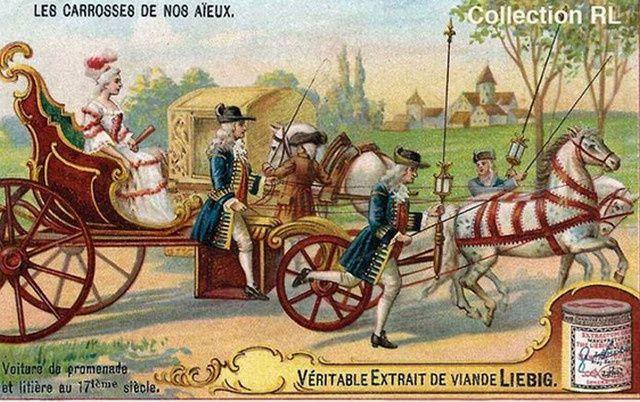 En promenade au XVIIe siècle.