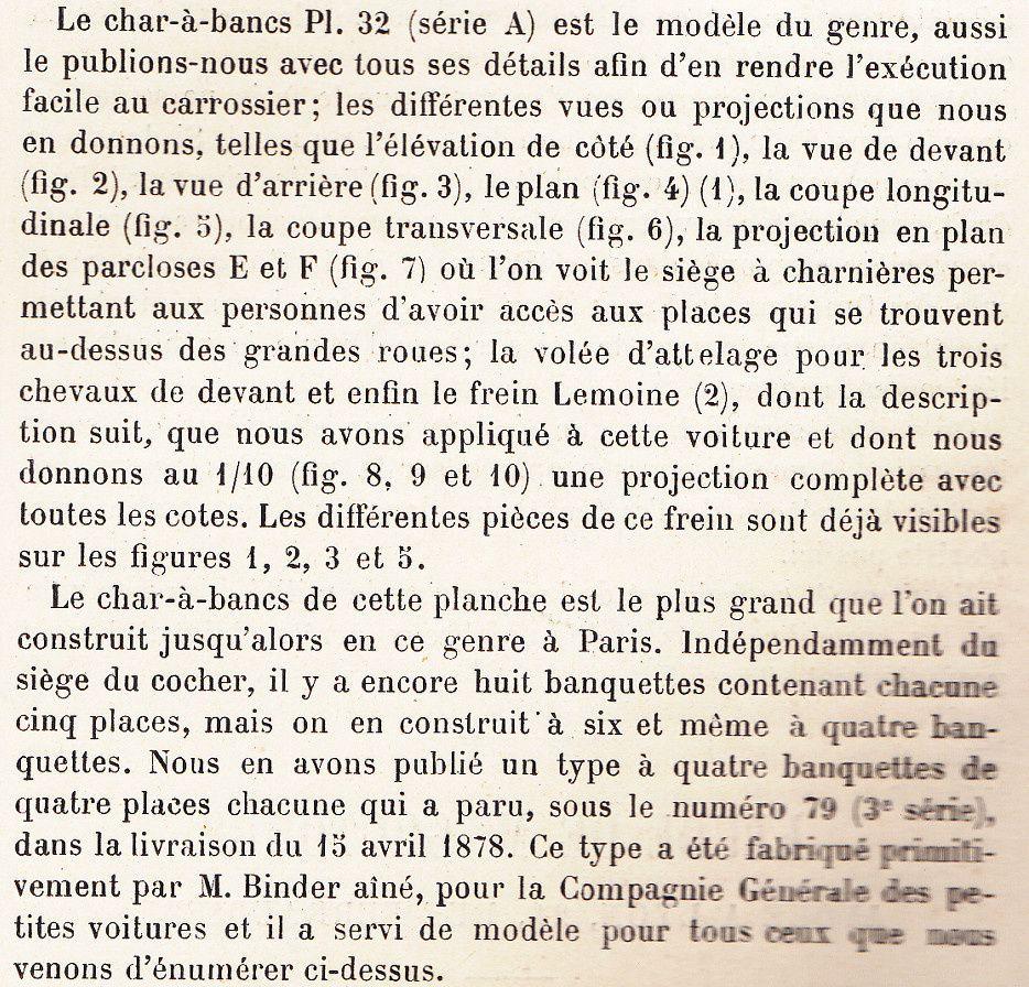 Char à bancs de 35 places en 1886