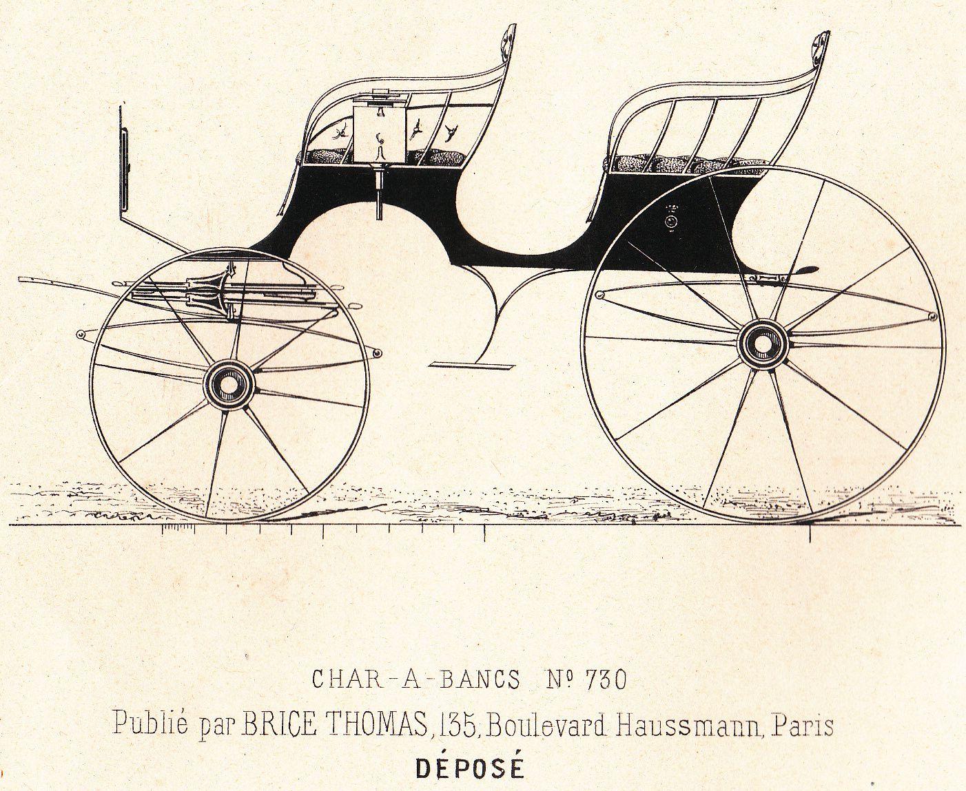 Chars à bancs privés&#x3B; de chasse, de loisir,...1882-1885