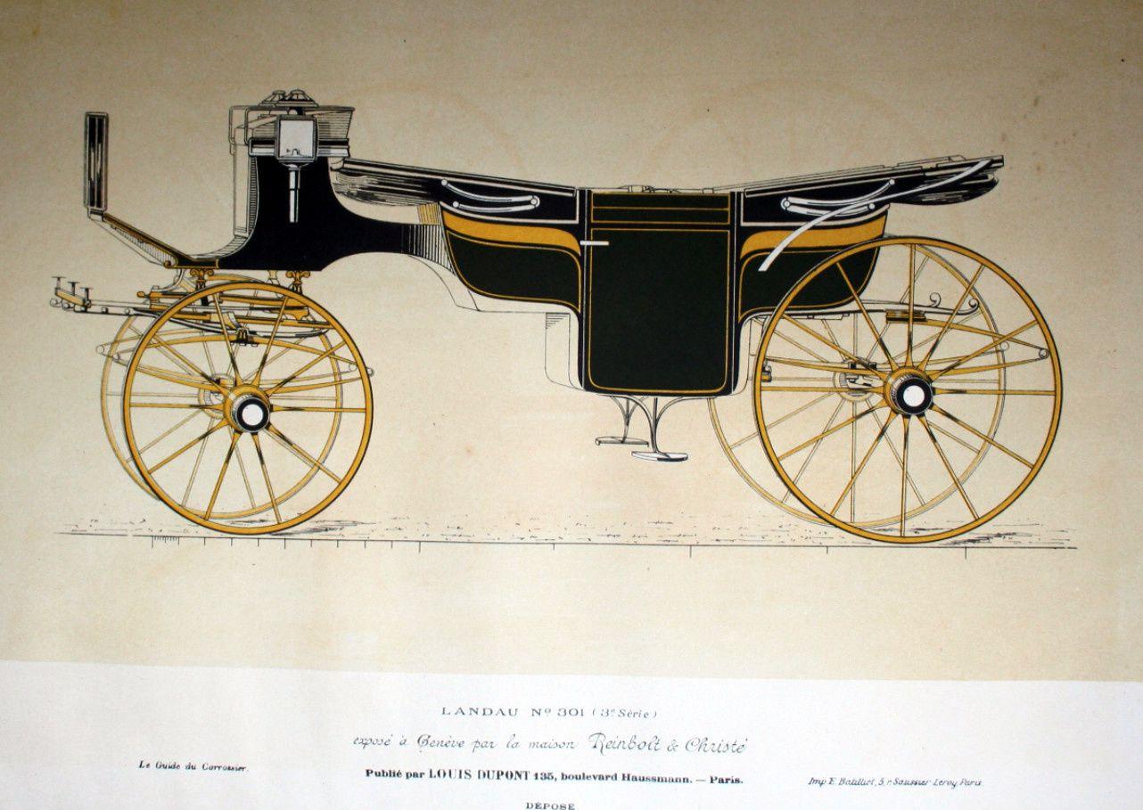 Landau (Modèle du guide du carrossier daté de 1896)