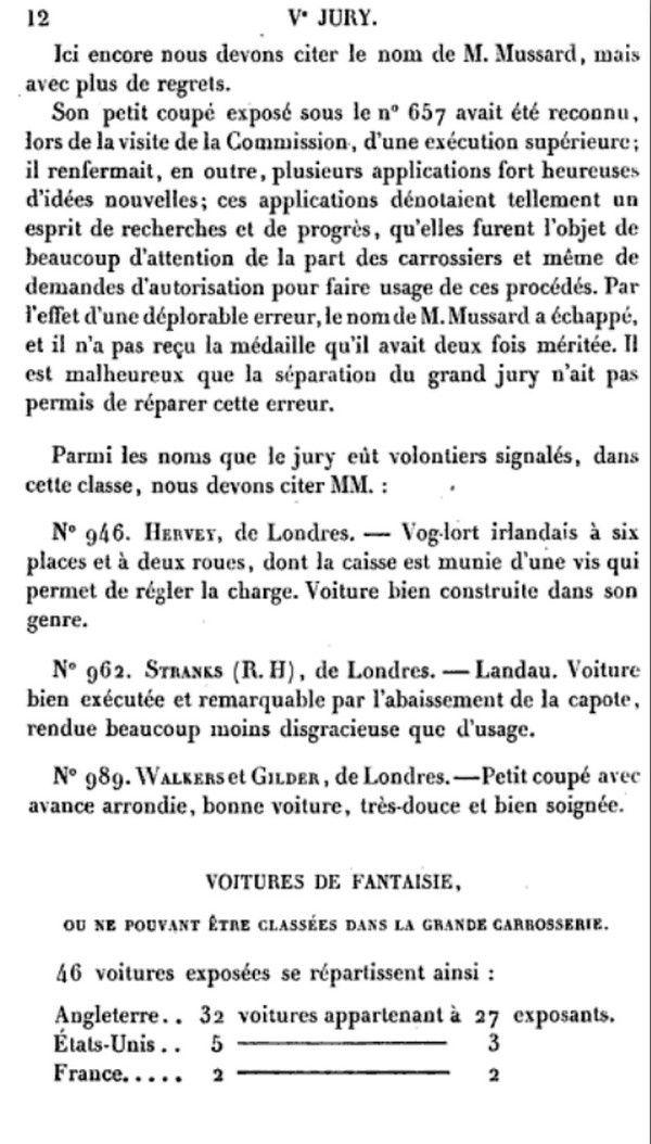 Voitures, sellerie:Exposition Universelle de Londres 1851