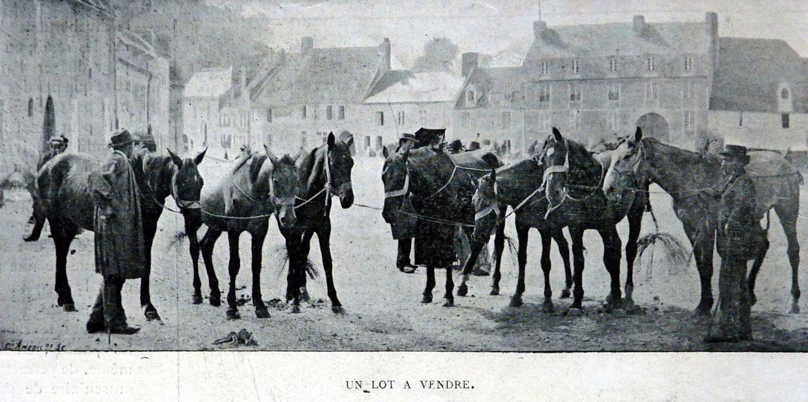Une foire normande en 1899.