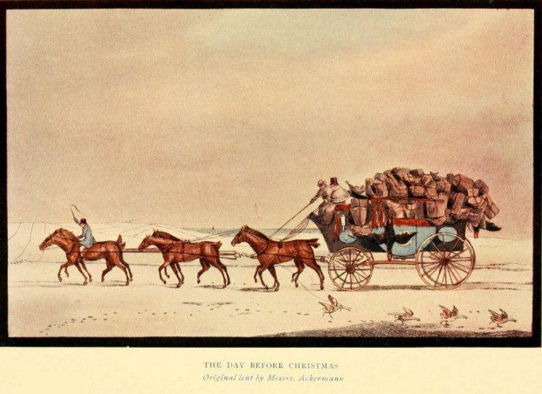 2 tableaux de Pollard  dont un étonnant stage coach double et deux autres non identifiés édités également par Ackerman
