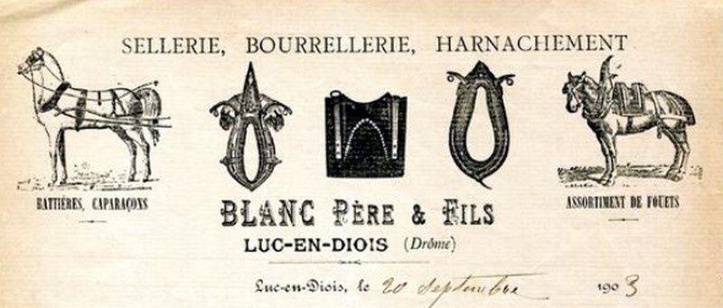 Quelques lettres d'artisans du sud de la france
