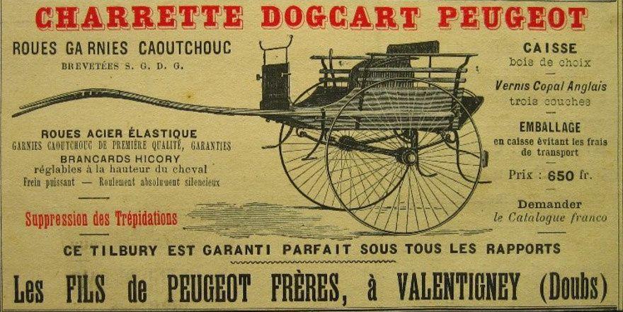 Dernier catalogue de  Peugeot avant la scission en 1896.