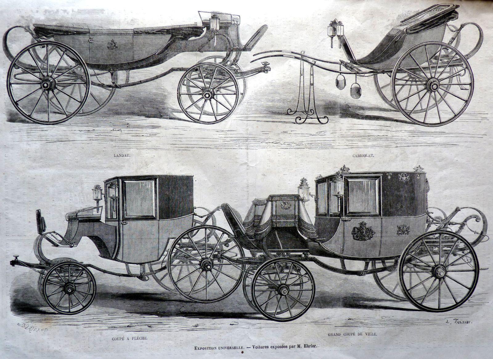 Voitures Ehrler à l'Exposition universelle de 1867