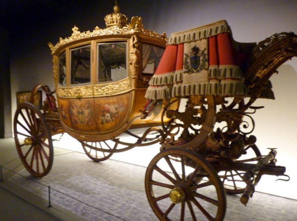 """La Baptème lors de sa présentation à l'exposition """"Roulez carrosses"""" à Arras"""